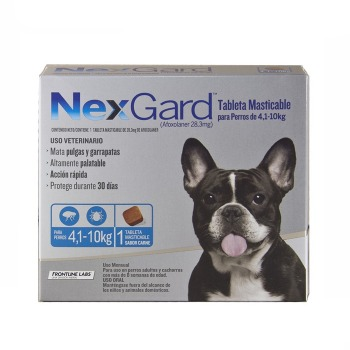 Nexgard Antiparasitario 3 Comprimidos de 4,1 a 10 KG
