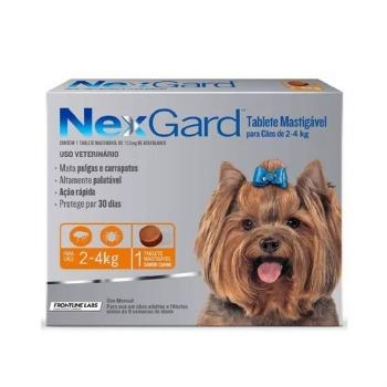 Nexgard Antiparasitario 1 Comprimido 2 a 4 KG