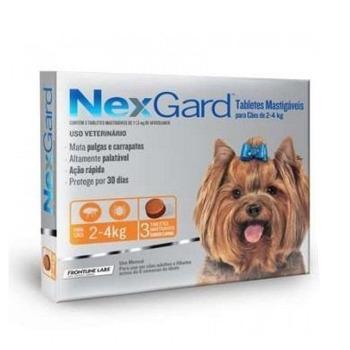 Nexgard Antiparasitario 3 Comprimidos 2 a 4 KG