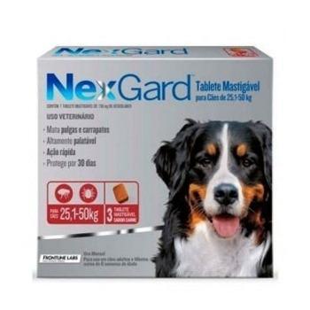 Nexgard Antiparasitario 3 Comprimidos 25,1 a 50 KG