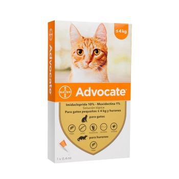 Advocate Pipeta Antipulga Para Gatos Hasta 4 KG