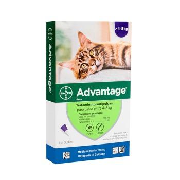 Advantage Pipeta antiparasitaria Externa para Gatos de 4 a 8 KG