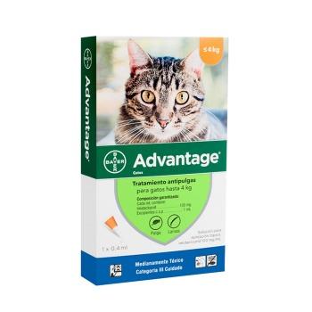 Advantage Pipeta antiparasitaria Externa para Gatos hasta 4 KG