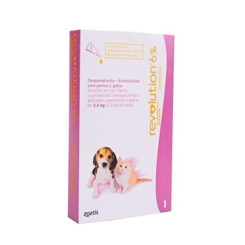Pipeta Revolution Antiparasitaria Hasta 2.5 KG