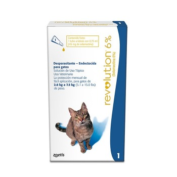 Pipeta Revolution Antiparasitaria para Gatos de 2.5 a 7.5 KG