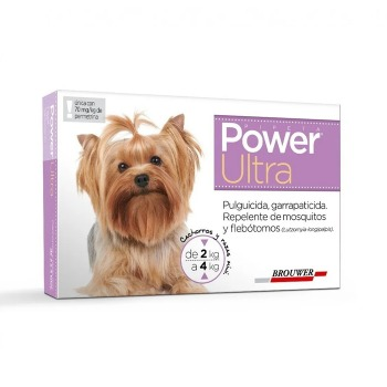 Pipeta Antiparasitaria Power Ultra 2 a 4 KG