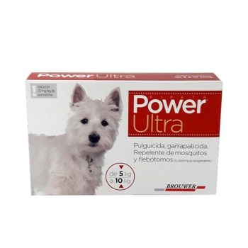 Pipeta Antiparasitaria Power Ultra 5 a 10 KG