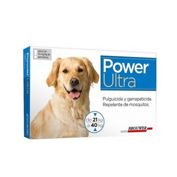 Pipeta Antiparasitaria Power Ultra 21 a 40 KG