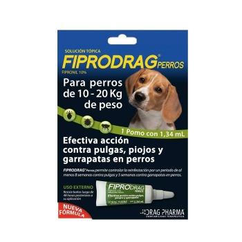Pipeta Antiparasitaria Fiprodrag perros 10 a 20 kg