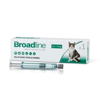 Broadline Pipeta Antiparasitaria Gatos de 2,5 a 7,5 Kg