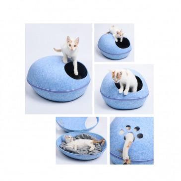 Casa de Fieltro para gatos Modelo Huevo colores